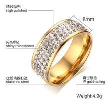 8 mm CZ jewelry engagement rings for women trendy wedding bague fashion bijoux Luxury Accessories