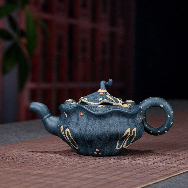 Ensemble de thé chinois kungfu 330 mL Boutique créative Yixing Zisha pot à la main en argile pourpre théière puer thé eau bouillante thé bouilloire