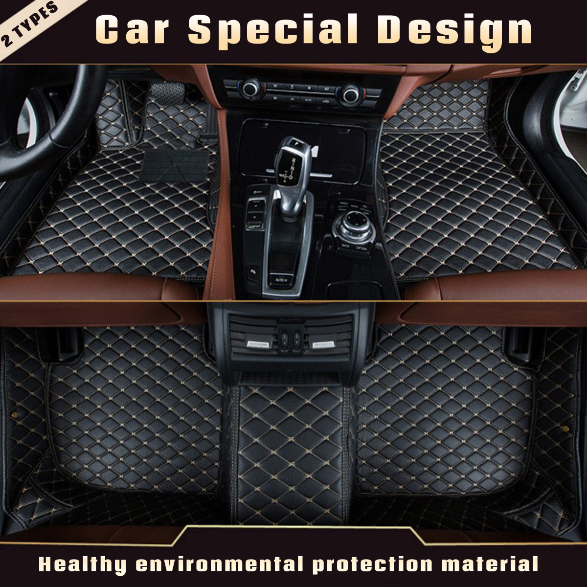 3Pcs Leather Anti Slip Car Floor Mat Auto Decor Carpet for Mercedes for Benz A C W204 W205 E W211 W212 W213 For Left Hand Drive