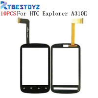RTBESTOYZ 10PCS/Lot Touch Screen For HTC Explorer A310E Mobile Phone Touch Panel Sensor Digitizer Replacement Glass