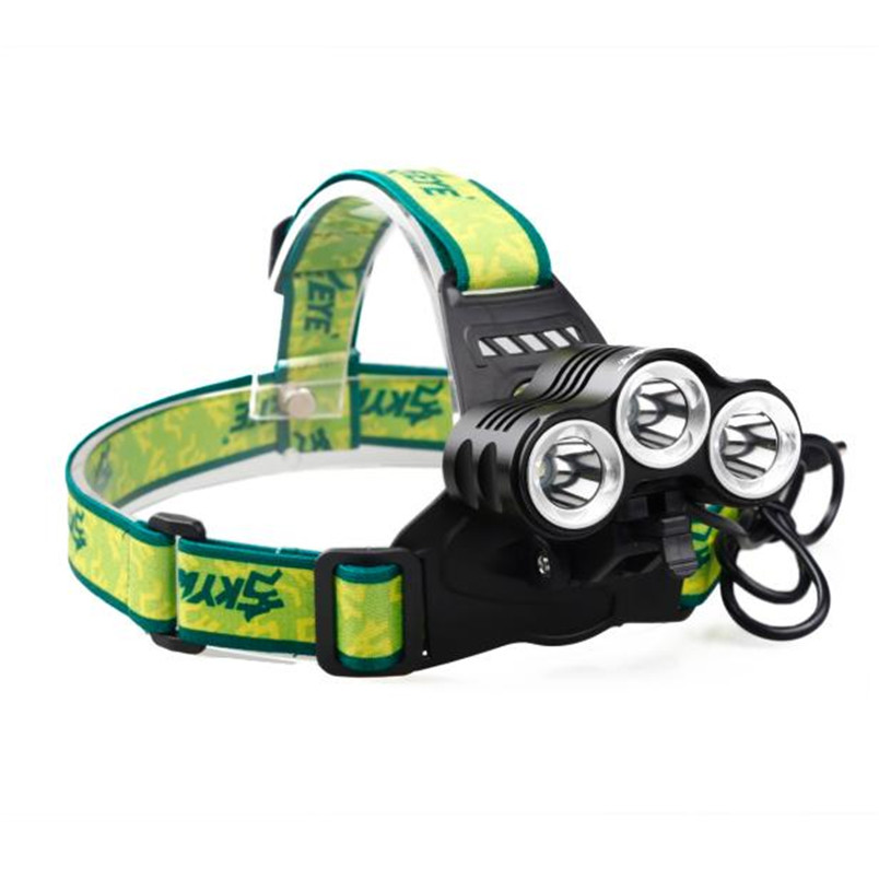 Rehargeable 12000 Lm 3 x CREE XML T6 LED Bicycle Head Light 18650 Headlamp Torch NOJ06