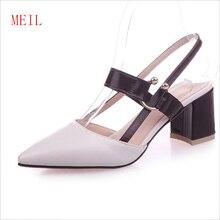 6CM Thick Heel with Straps Pointed Toe Ladies Shoes Pumps Fashion Simple Versatile Chunky Heels Pumps Zapatos Elegantes Sandales цена в Москве и Питере
