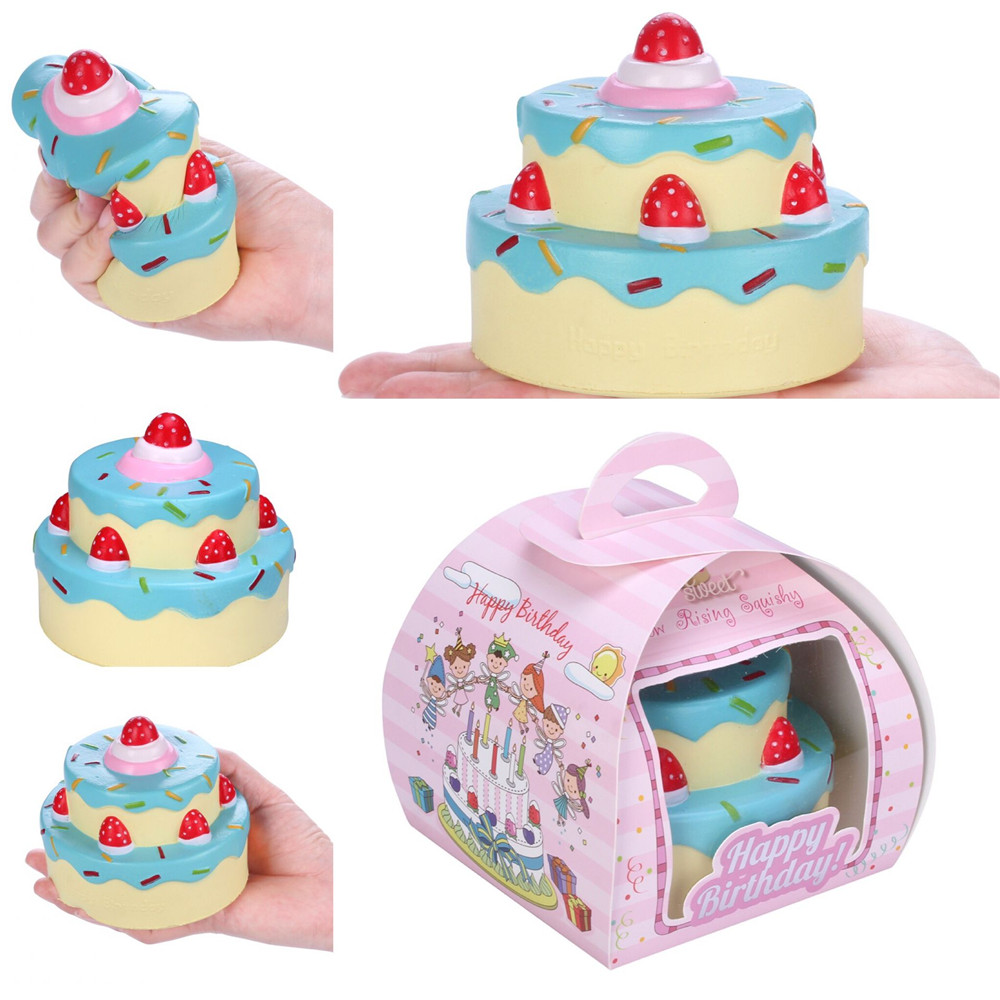 Vlampo Squishy Layer Birthday Cake Slow Rising O riginal Packaging Box Gift Collection Decor Toy For Children Kids