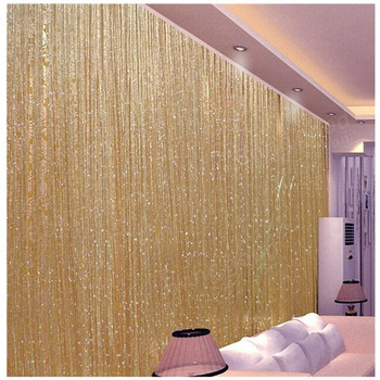 200×100 cm Luxury Crystal Curtain Flash Line Shiny Tassel String Door Curtain Window Room Divider Home Decoration cortinas