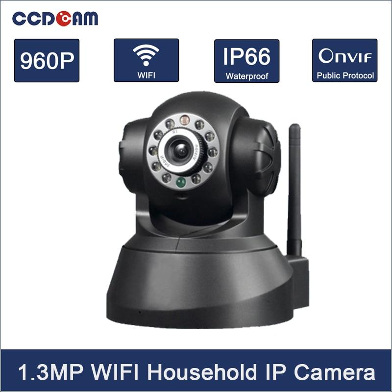 Ccdcam HD 960 P 1.3mp cmos датчик 2 way аудио WI-FI IP Камера 10 шт. ИК-светодиодов мегапиксельная электронной почты сигнал тревоги панорамирования/наклона со...