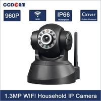 CCDCAM HD 960 P 1.3MP CMOS sensor 2 2-wege-audio WIFI IP kamera 10 stücke IR LEDs Mega Pixel E-mail Alarm Pan/Tilt Handy Control