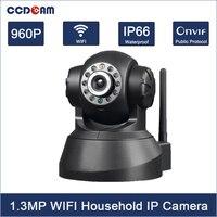 CCDCAM HD 960P 1.3MP CMOS sensor 2 Way Audio WIFI IP Camera 10pcs IR LEDs Mega Pixel Email Alarm Pan/Tilt Cell Phone Control