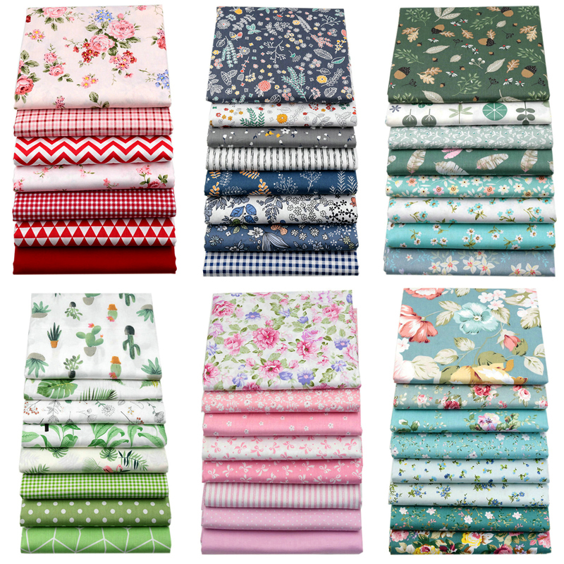 Cotton-Fabric Printed Cloth Handmade-Material Sewing Patchwork Needlework 25cmx25cm  title=