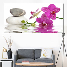 Printed HD Modern 5 Pieces Panel Printing Wall Art Canvas of Luxury Orchid Flowers