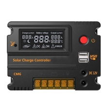 Solar Panel Battery Charge Controller 20A LCD Solar Panel Battery Regulator 12V 24V Auto Switch стоимость