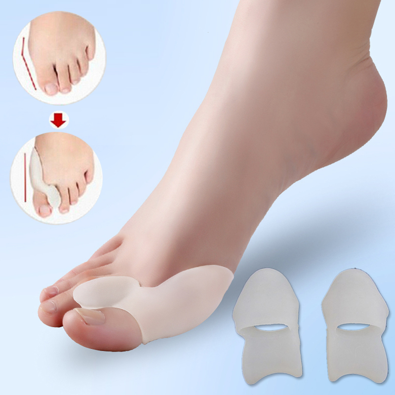 1 Pair Toe Supports Finger Braces Foot Care Gel Stretchers Bunion Protector Straightener Corrector Thumb Pedicure Device U3