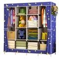Mejor Precio refuerzo gran ropa de armario de tela de armario de almacenamiento de ropa plegable armario a prueba de polvo