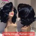 Top Quality Bob Full Lace Wigs Glueless Parte Dianteira Do Laço Do Cabelo Humano Bob Peruca 100% Virgem Peruca de Cabelo Humano, Perucas Bob Curtos Para Preto mulheres