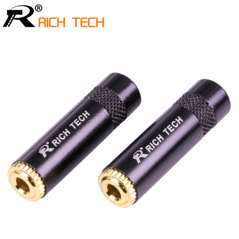 3pcs Smooth Black Jack 3.5 Audio female jack 3.5mm 3 pole Stereo socket Gold Plated Wire Connector RICH TECH Earphone DIY areyourshop sale 2pcs gold plated stereo 3 5mm 3 pole repair headphone jack plug cable audio adapter