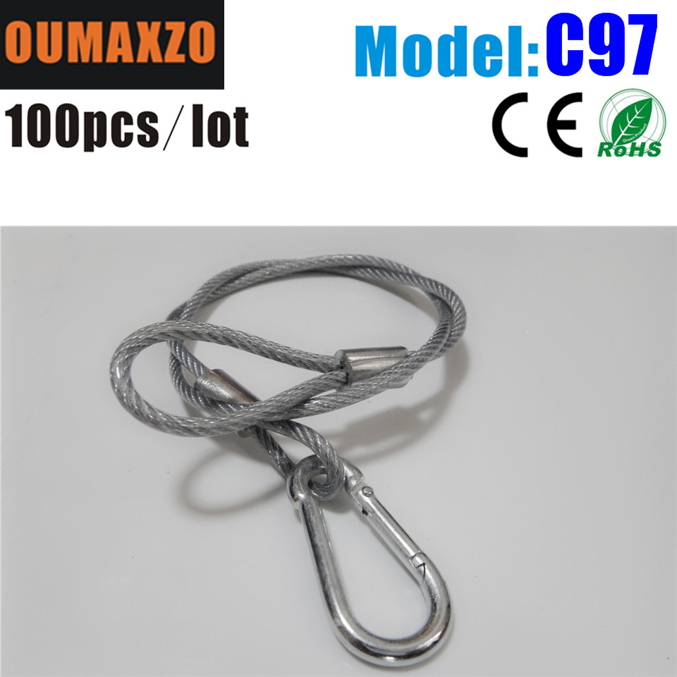 100pcs/lot Safety Cable Wire Rope for Stage Lighting hanging Truss Steel/Iron Safty Cable,Hook,Truss Lift,Stage Safety Cable for
