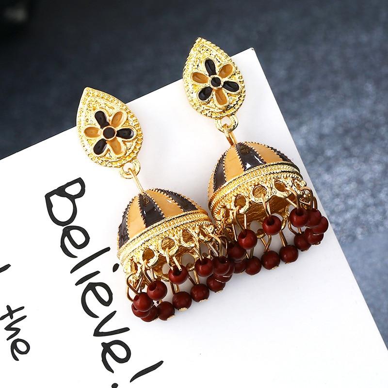 8756954cd 2018 Fashion Faux Imitation Pearl Indian Jhumka Jhumki Drop Earrings Women  Gold Long Chain Wedding Bridal ...