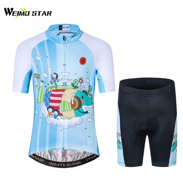 Children Cycling Jersey Bike Cycling Clothing Girl Boy Bicycle Short Sleeve  Jersey For Kids Cute cartoon Fish 9105ddcc3