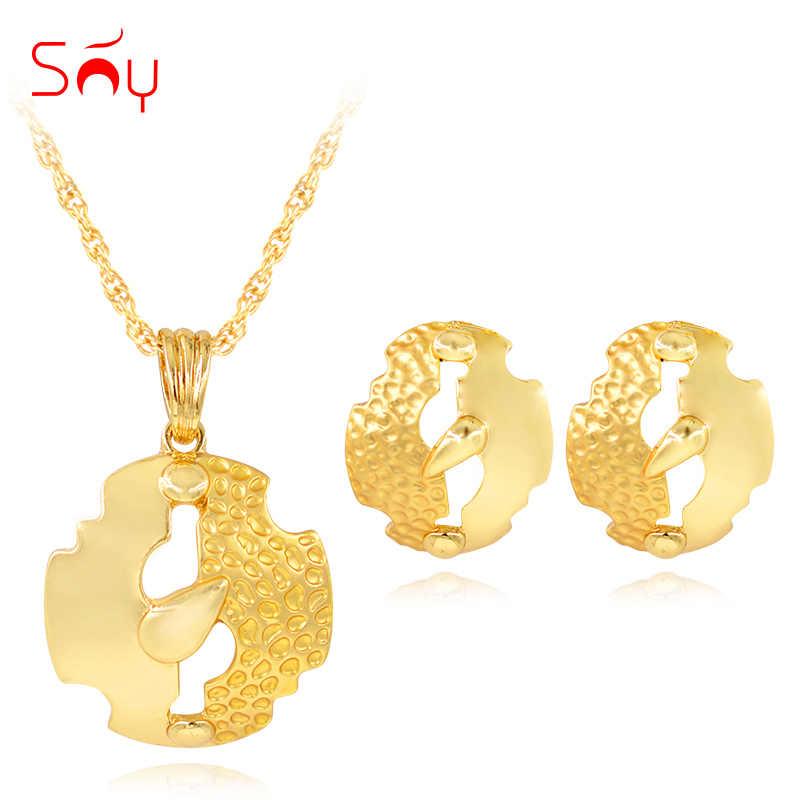 Ensoleillé bijoux collier boucles d'oreilles pendentif cadeau d'anniversaire pour les femmes bijoux ensembles alliage mode bijoux 2019 plante feuilles pour la fête