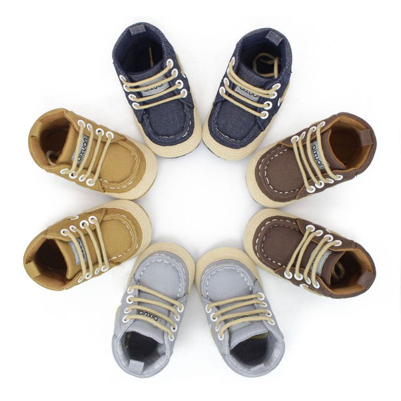 Baby Boys Winter Infant Toddler Boy Soft Soled Boots Booty Handsome High Top Shoes