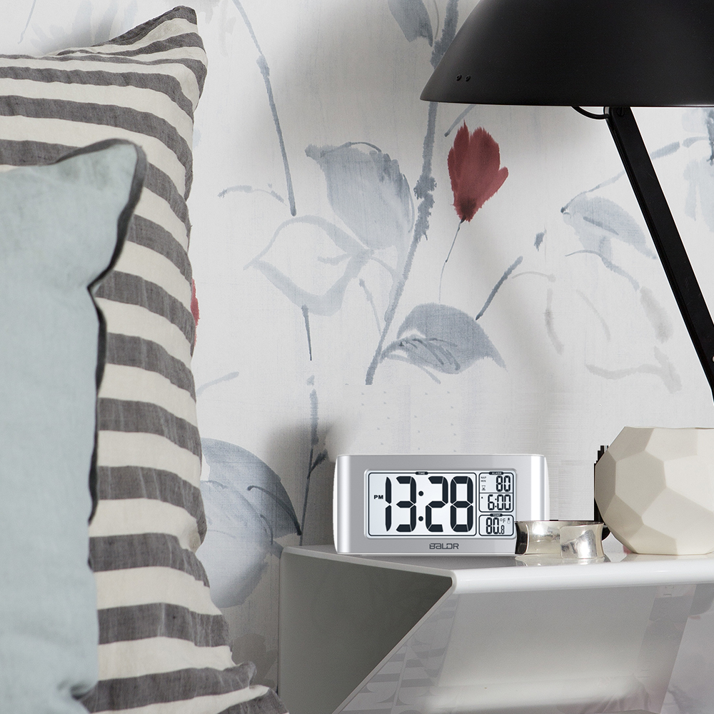 Image 5 - Baldr digital nap temporizador despertador ajuste rápido display  lcd de temperatura mesa relógios branco backlight termômetroclocktimer  ledclock motion