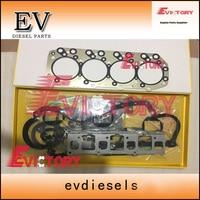 High quality 4JB1 4JB1T Full engine gasket kit For Isuzu engine Kato excavator HD307