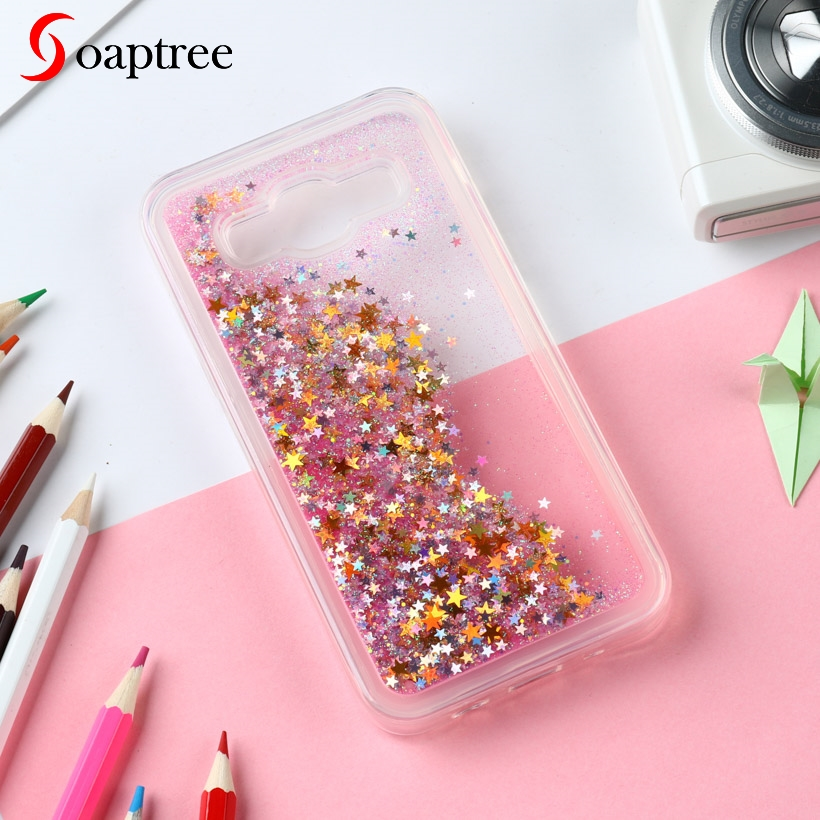 Glitter Liquid Silicone Cases For <font><b>Samsung</b></font> <font><b>Galaxy</b></font> <font><b>J7</b></font> 2015 Case Soft TPU Coque For <font><b>Samsung</b></font> <font><b>Galaxy</b></font> <font><b>J700</b></font> Cover Phone Fundas Covers image