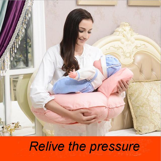 Infantil multifuncional Amamentação Travesseiro Abraço-U Travesseiro De Enfermagem Do Bebê Mummy Coxim Traseiro do Assento Almofada de Apoio Da Cintura Do Bebê
