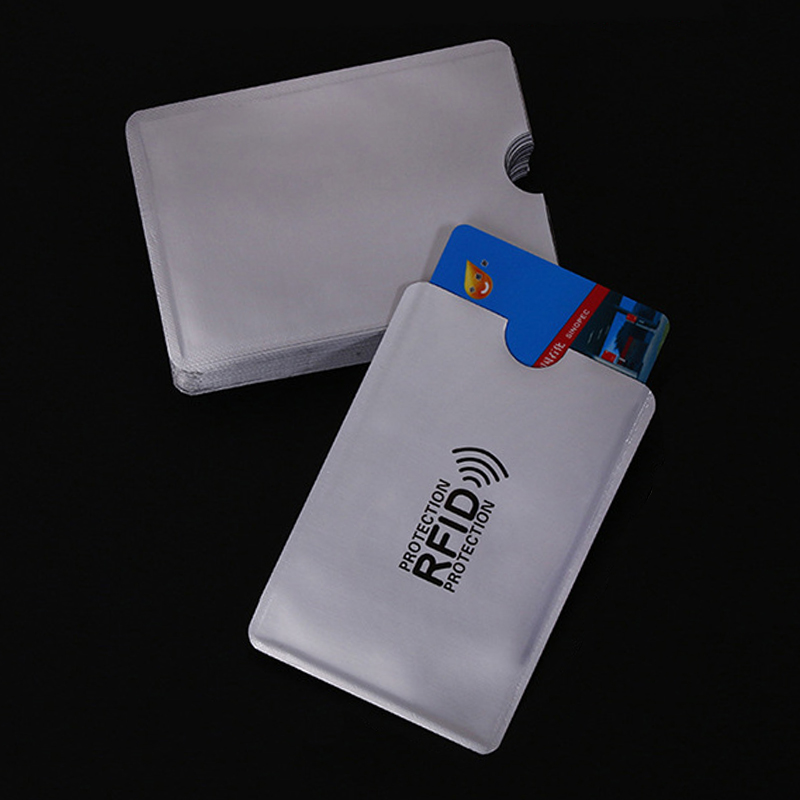 10 Pcs/bag Anti Rfid Wallet Blocking Reader Lock Bank Card Holder Id Bank Card Case Protection Metal Credit Card Holder 6*9.3cm