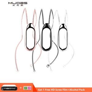 Image 1 - Mi עבודות עבור שיאו mi Band 3 גרסה מתכת מקרה שרשרת קישוט mi Band 3 תליון מגן כיסוי אבזרים
