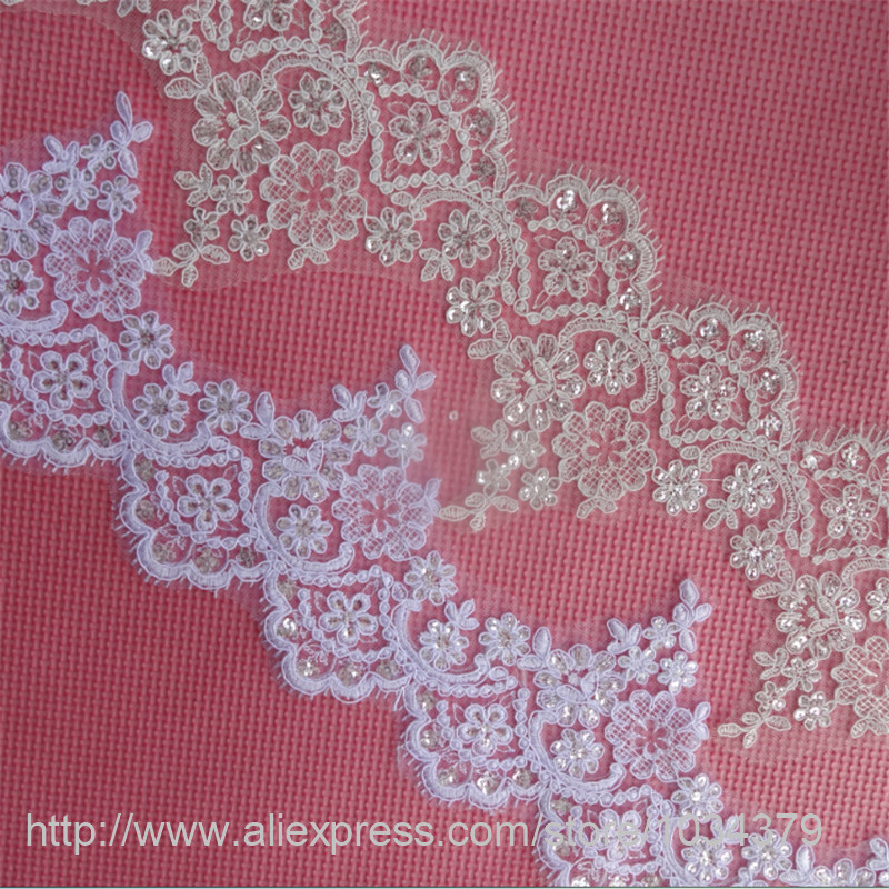 Lace 2yds Lace Fabric Beautiful Flower Venise Lace Trim Sewing Craft Embroidered Lace For Sewing Decoration