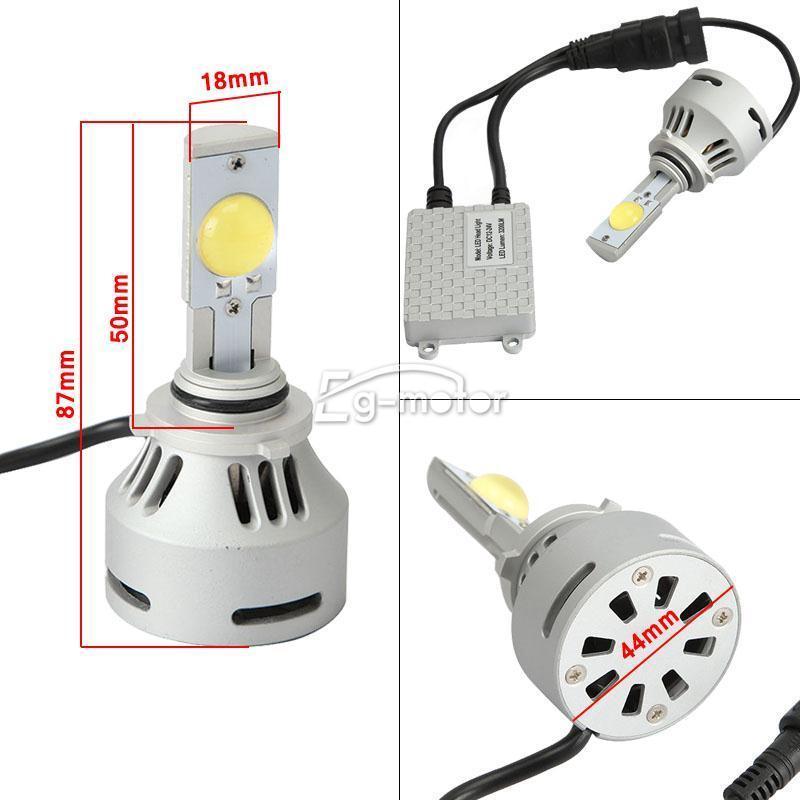 Envío gratis 2x9006 3200lm 32 W MTG2 Led faro cabeza blanca luz antiniebla Kit de bombillas - 6