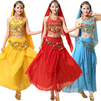 Egyptian Belly Dance Costume Indian Dresses India Belly dancing clothes Adult Stage Performance Bollywood Dance Costumes