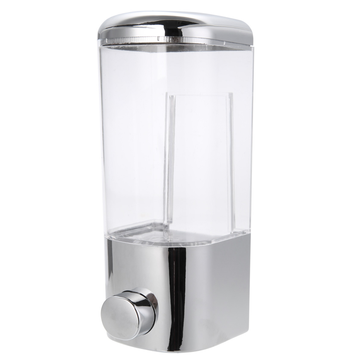 Bathroom Shower Dispensers Us 8 28 40 Off Mayitr 500ml Chrome Wall Mounted Soap Dispenser Bathroom Shower Lotion Holder For Home Washroom Liquid Tool In Liquid Soap Dispensers