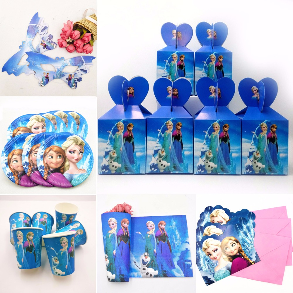 Frozen Elsa And Anna Theme Party Supplies Baby Shower Kid Birthday Girl Party Decoration Girl Favor Frozen Party Supplies