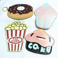 M023 Cute Cartoon Ice Cream Cake Hamburger Pizza And Doughnut  Coin Purse Wallet Card Bag Girl  Women Student Gift Wholesale