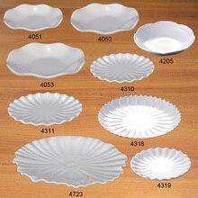 лучшая цена New Fashion Melamine Dinnerware Dinner Plates Corrugated Round Plate With Chain Restaurant A5 Melamine Plates Melamine Tableware