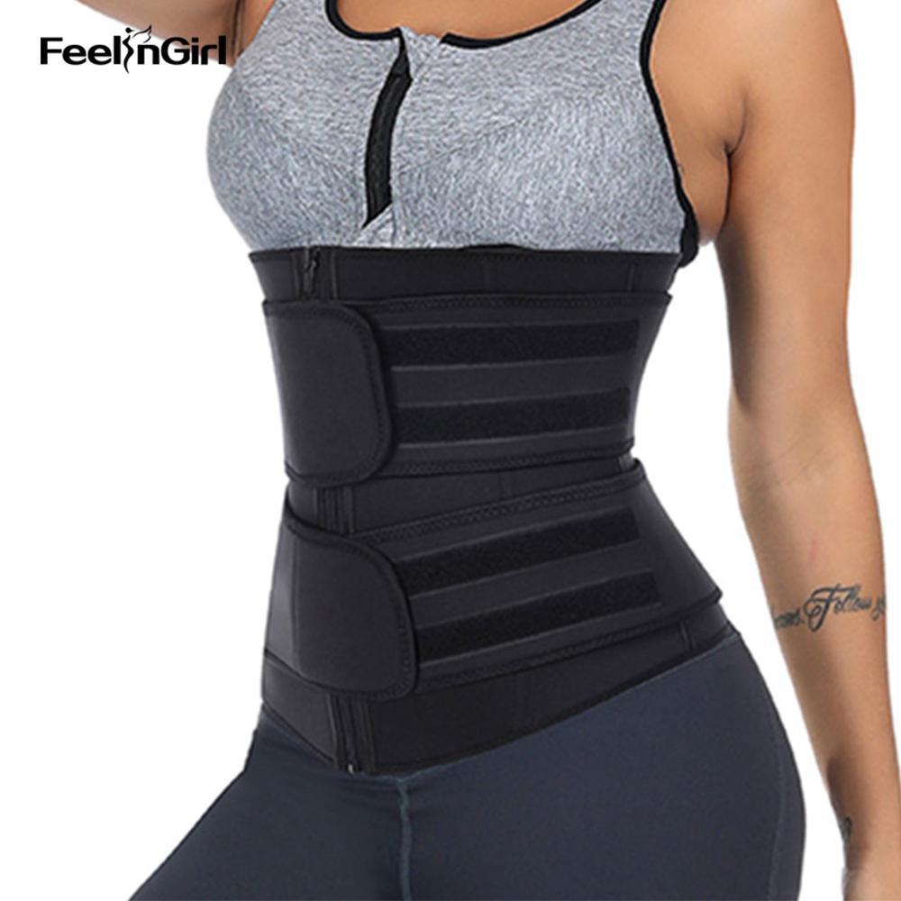 FeelinGirl Trainer Cintura Neoprene Cintas Da Cintura Corset Mulheres Shaper Do Corpo de Emagrecimento Shapewear Binder Trans Modelagem Cinto