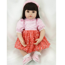 About 55CM Silicone Reborn Baby Dolls Popular NPK Dolls With Baby Clothes Boneca Lifelike Adorable Newborn Baby Dolls Juguetes