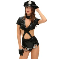 FGirl Cosplay Costume Sexy Halloween Costumes For Women Police Woman Sexy Cop Halloween Costume FG41622