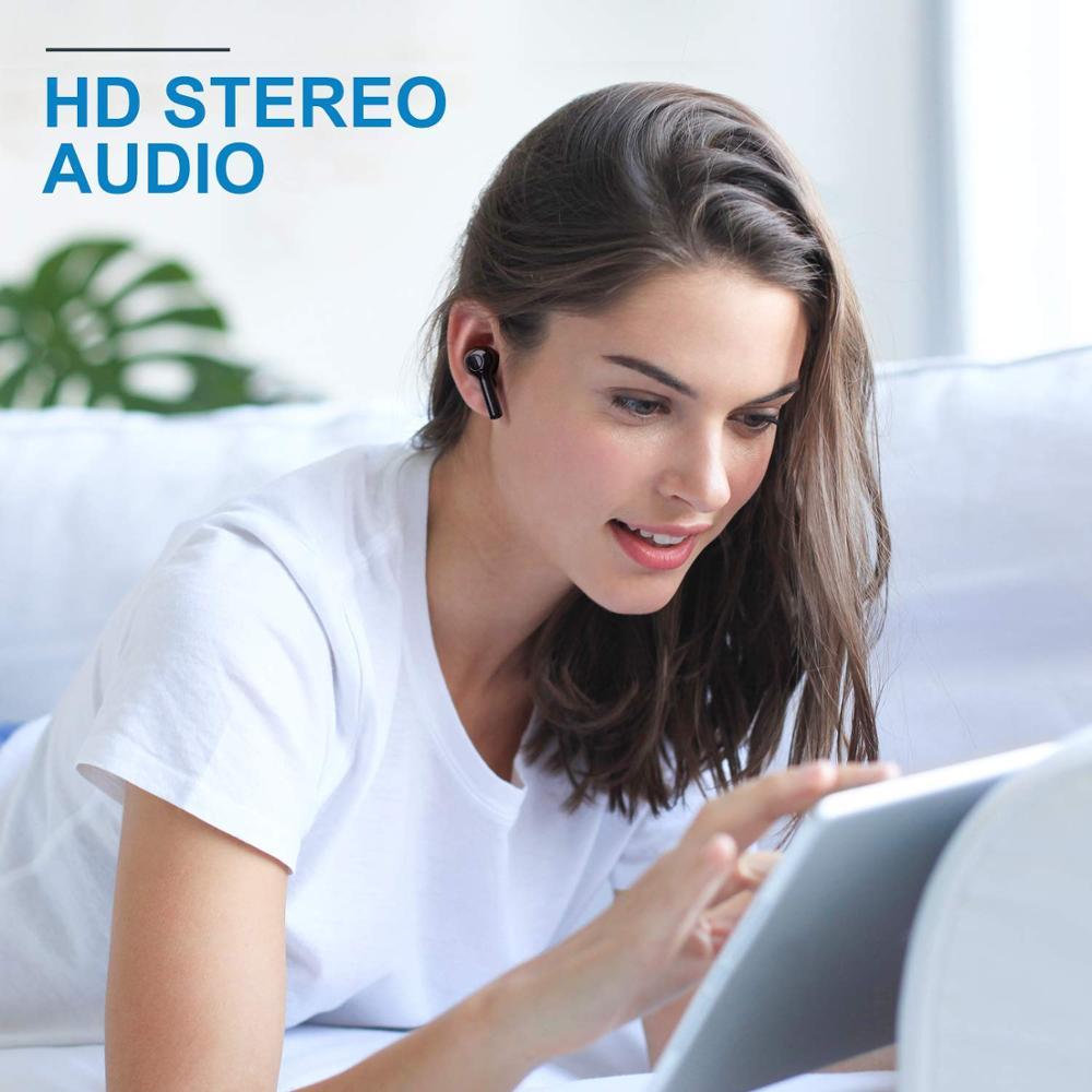 Haut Bluetooth 5.0 écouteurs pour tous les téléphones intelligents Mini sans fil écouteurs sport casque casque pour Samsung pour Xiaomi Huawei - 4