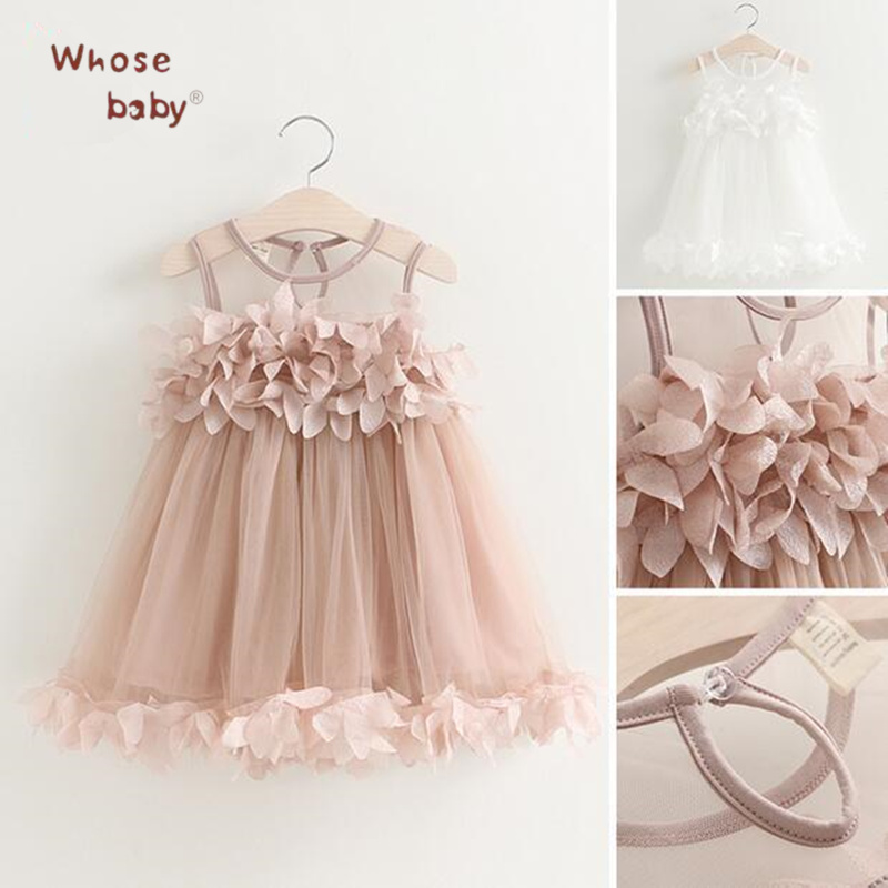 Princess Girls Dress Flower Chiffon Kids Dresses For Girl  Petals Infant Dress Vest Floral Baby Children Party Wedding Costume flower girls dress 11 color with rose party birthday chirstening dress for baby girl princess children toddler girl vest dresses