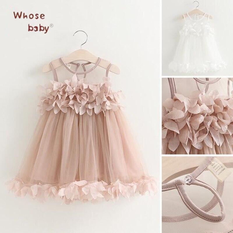 Princess Girls font b Dress b font Flower Chiffon Kids font b Dresses b font For