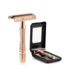Men's Shaving Razor Double Edge Safety Razor Zinc Alloy Safety Razor Classic For Men 1 Razor 1 Blade 1 Case Shaver set 20