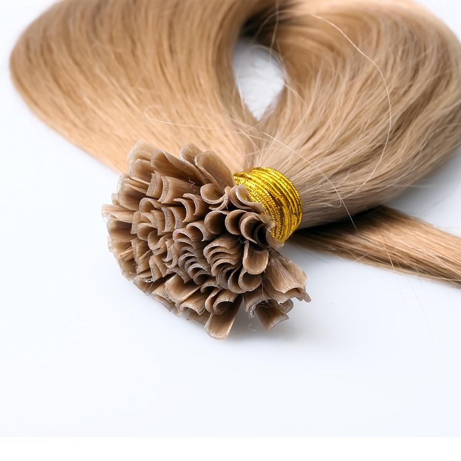 7A Fusion Hair Extensions Brazilian Keratin U Tip 1g Strand Nail Human Extension Pre Bonded Straight Virgin In