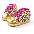 New Fashion Spring Autumn Newborn Baby Unisex Kids First Walkers Shoes Infant Toddler Leopard Soft Soled Boots Footwear 0-1 Year