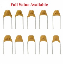 50PC Multilayer ceramic capacitor 221 222 223 224 225 300 330 331 332 334 335 5.08MM 2.2UF 30PF 3.3NF 330NF 50V pf NF Monolithic