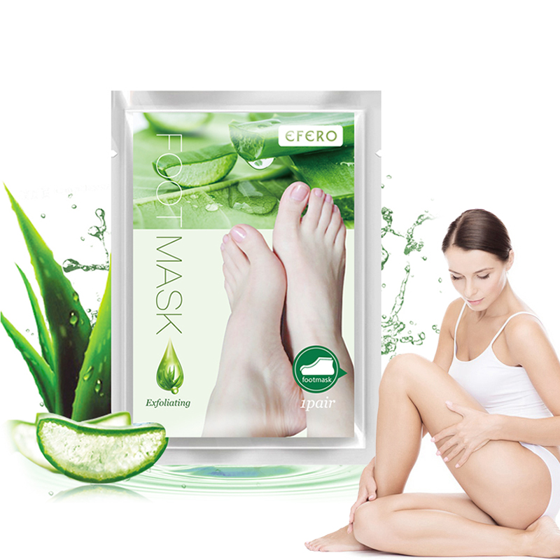 EFERO Baby Feet Mask Exfoliating Foot Socks For Pedicure Peeling Dead Skin Remover Foot Mask Peel Foot Detox TSLM1