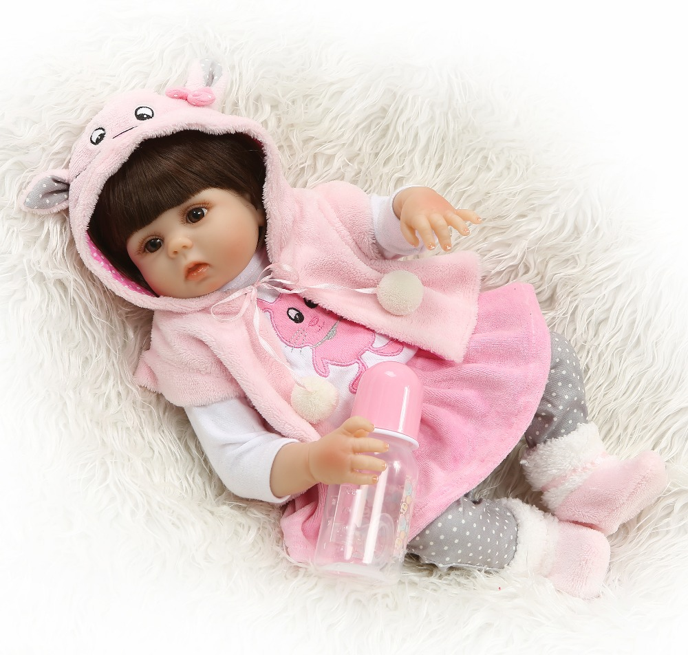 48CM Full Silicone Body Reborn Baby Doll Toy For Girl Vinyl Newborn Princess Babies Bebe Bathe Accompanying Toy Birthday Gift48CM Full Silicone Body Reborn Baby Doll Toy For Girl Vinyl Newborn Princess Babies Bebe Bathe Accompanying Toy Birthday Gift