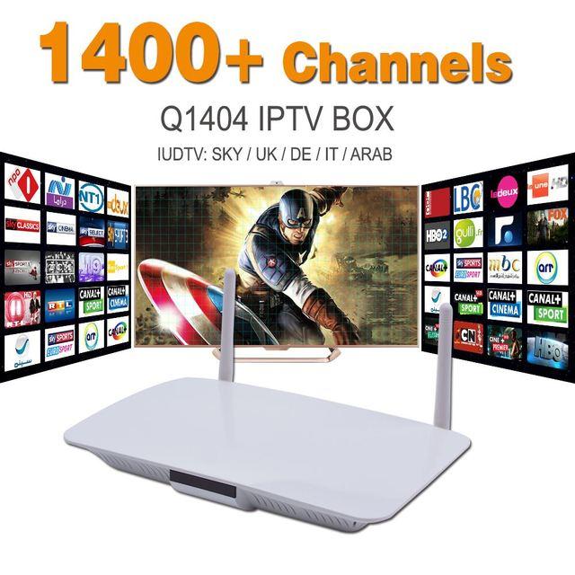 Árabe IPTV caja Androide elegante Europa Arabox 1400 + IP TV árabe Caja de la TV Transmisión En Vivo Deportes Medios IPTV Set-top Box Streamer