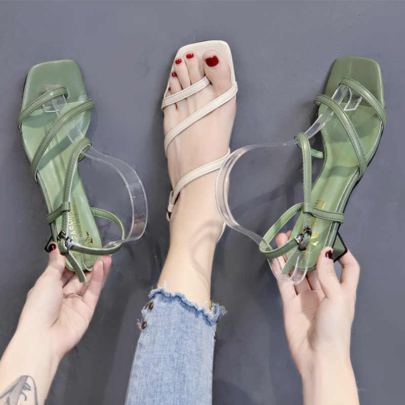 platform Flat korean style rhinestone sandals Rome casual shoes Solid Color zomer schoenen new arrival Casual summer Retro
